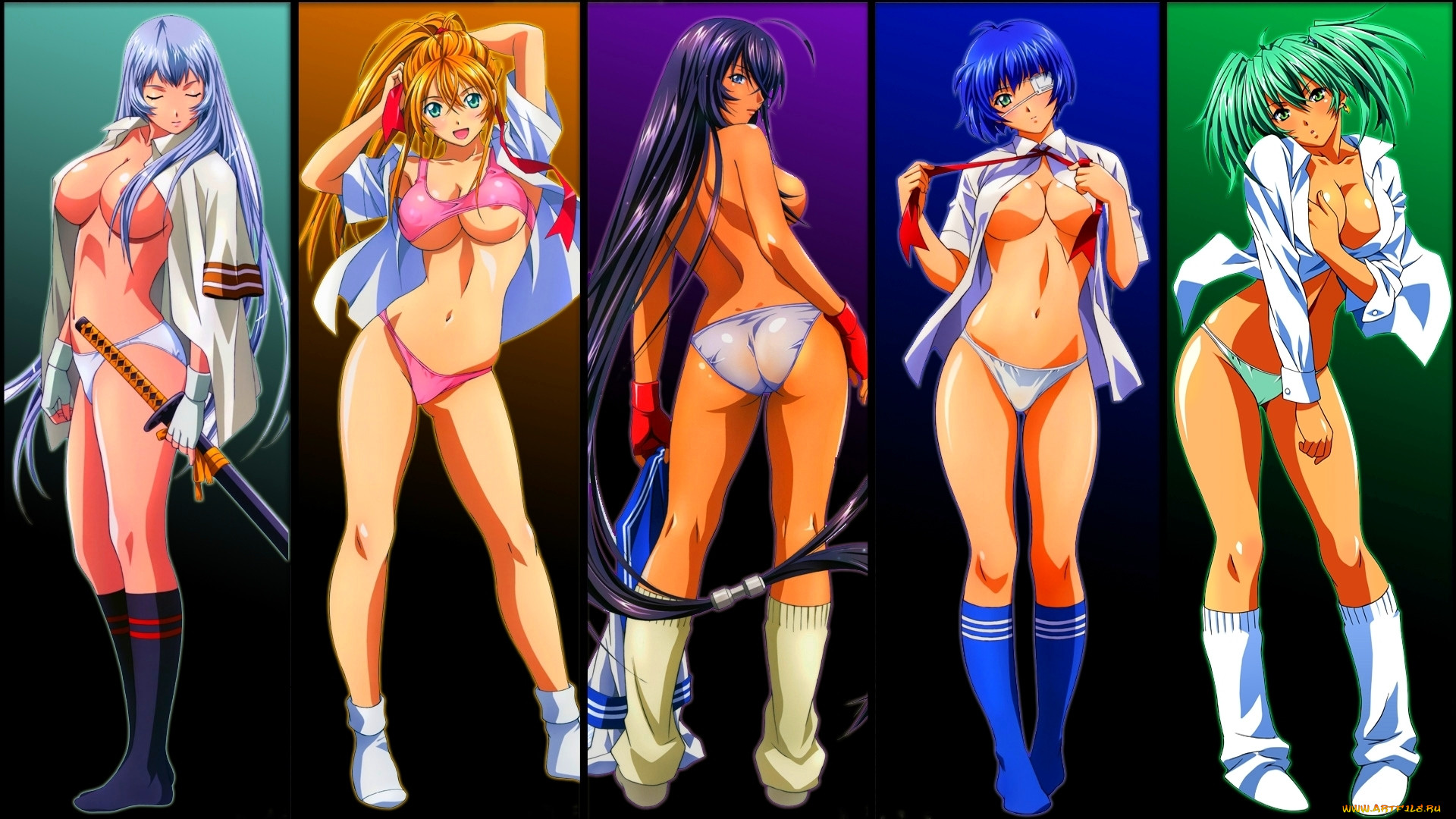 Ikkitousen hd nude anime clips